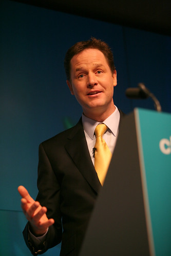 Election 2010 Day 9 - Nick Clegg & Vince Cable Launch the 2010 Liberal Democrat Manifesto