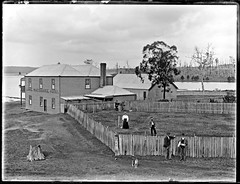 Henry Evans Lake Macquarie Hotel, Teralba NSW, 3 June 1898 (Cultural Collections, University of Newcastle) Tags: hotel pub australia nsw lakemacquarie 1898 henryevans box40 teralba ralphsnowball snowballcollection ralphsnowballcollection lakemacquariehotel asgn0926b40 newcastleregionnswhistorypictorialworks hotelsnewsouthwales photographynewsouthwalesnewcastle