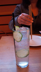 Cucumber Soju Collins