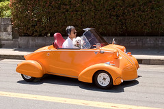 Little Orange Car complete with Poodle