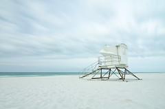 Stand Alone (NAMays) Tags: ocean longexposure sky beach gulfofmexico water clouds stand twilight sand nikon surf florida wave wideangle lifeguard tokina shore seashore pensacola 1116mm d7000