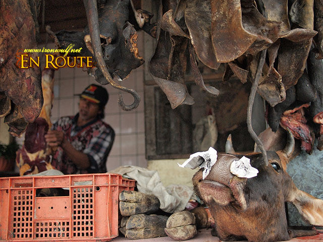 A meat shop in Abatan