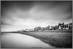 -------[][][][][][][][][] (Kevin HARWIN) Tags: black white mono silk water sea beach sand long short exposure buildings house windows stones rocks clouds move canon eos 70d sigma 1020mm lens south east kent uk england britain