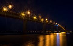 Bridge lights (OzzRod) Tags: pentax k1 smcpentaxda15mmf4 night lights starbursts bridge river stockton newcastle australia