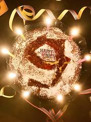 German / Belgian cheese'n'chocolate Birthday cake. Happy 9th birthday for a wonderful girl. (DETart) Tags: cakes food neun 9 nine kerzen candles light birthdaycake geburtstagskuchen geburtstagsfeier geburtstag kuchen birthday cake