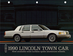 1990 Lincoln Town Car (coconv) Tags: auto old classic cars hardtop car truck vintage magazine cards town flyer automobile post antique postcard ad continental advertisement vehicles card postcards lincoln vehicle trucks autos collectible collectors brochure 90 coupe v8 automobiles prestige