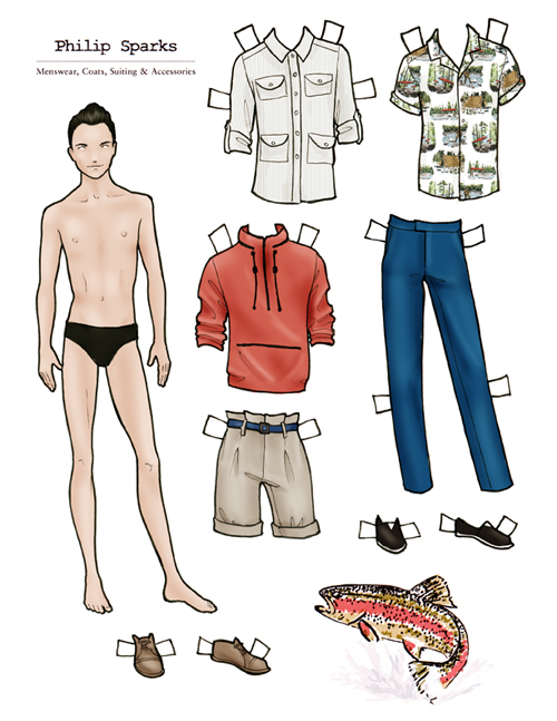 Philip Sparks SS10 paper doll