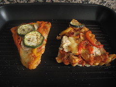 Grill pan veggie pizza