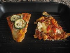 Grill pan veggie pizza