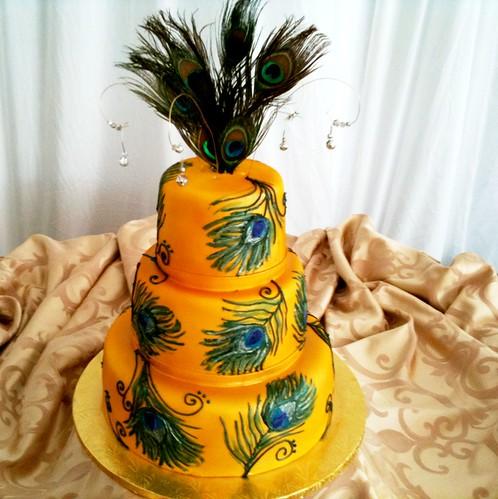 peacock cake 2