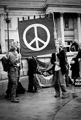 Anti War Protest, London 24/10/09 (christina marie riley) Tags: park white black london film 35mm canon square war king ae1 protest trafalgar blues hyde stop coalition anti