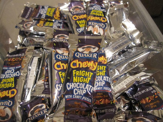 We Gave Out Quaker Fright Night Granola Bars