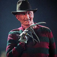 Freddy Krueger of Nightmare on elm street horror movie icon