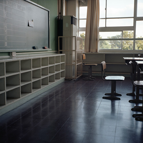 View of an empty classroom. Picture courtesy of Momota M.