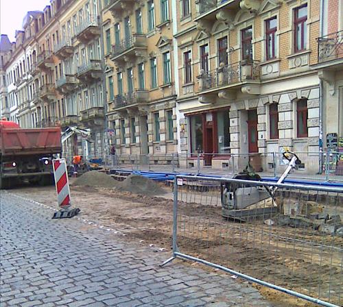 Bischofsweg-Baustelle