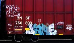 Jame (mightyquinninwky) Tags: railroad radio graffiti la tag graf railway tags tagged railcar boxcar graff graphiti doc bnsf jame trainart rollingstock paintedtrain spraypaintart movingart taggedtrain railroadart boxcarart feevo taggedboxcar paintedboxcar paintedrailcar taggedrailcar