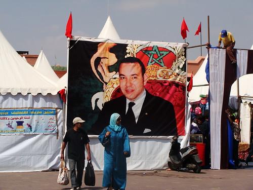 Cartel del Rey de Marruecos