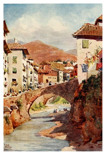 038-Granada-Calle del Darro-Cathedral cities of Spain 1909- W.W Collins