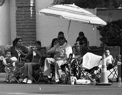 Veterans' Day Parade, 2009 (Corrin Green) Tags: leica family arizona blackandwhite bw white black film phoenix monochrome umbrella indian wwii great grandfather parade nativeamerican ww2 generations navajo m3 ilford veterans americanindian worldwar2 secondworldwar vets veteransdayparade codetalker leicahektor135mmf45ltm miltongishal gishal