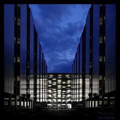 nightlights (sediama (break)) Tags: blue germany geotagged nightlights nightshot pentax parkinggarage garage hannover explore parkgarage artlibre k20d sediama unusualviewsperspectives igp4699dmix ©bysediamaallrightsreserved