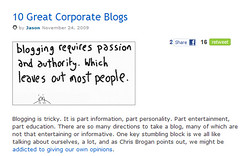 10 Great Corporate Blogs from Jason Keath features the Quicken Loans blog