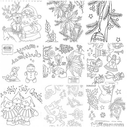 Holiday Embroidery Patterns - Part 2