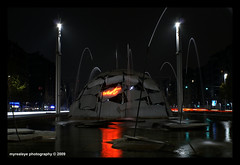 Lights & Reflections... (myrealeye photography) Tags: fountain colors lines night torino lights luci turin colori fontana notte igloo linee