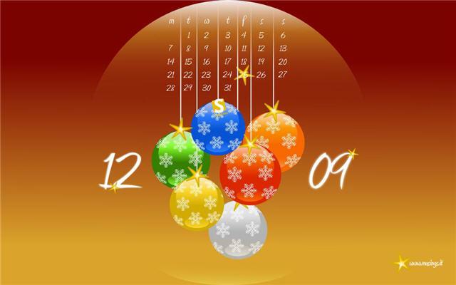 2009년 12월 배경화면