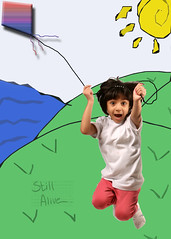 kite (Still Alive ..) Tags: family girls portrait people kite cute home nature girl smile face kids canon studio children happy fly flying kid still nice jump jumping child little innocent alive kuwait q8 stillalive 400d moiq8 shayoom