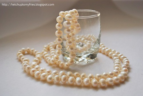 pearls necklace rope lenght