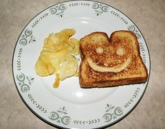 Smiley-Face Cheese Sandwich 1 (Hammer51012) Tags: smile face cheese sandwich chips potato smiley grilled toasted