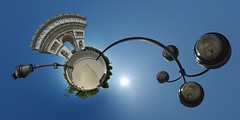 Arc de Triomphe (5) (gadl) Tags: panorama paris france sunrise place 21 tripod arc triomphe gimp projection planet arcdetriomphe 360 toile stereographic hugin plante 75008 enblend placedeltoile mathmap stereographicprojection 303sph selmtr selmtrp