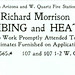 Richard Morrison, Plumbing and Heating, Butte, Montana (1901)
