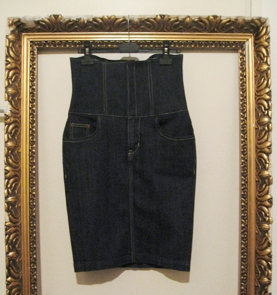 OutsaPop high waisted denim skirt