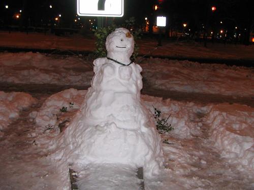 Dupont Circle Snowwoman