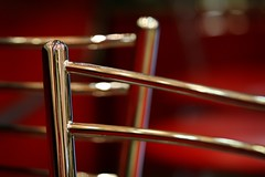chrome:  353/365 (helen sotiriadis) Tags: red reflection metal canon silver chair shiny published dof bokeh depthoffield chrome 365 canonef100mmf28macrousm canoneos40d toomanytribbles