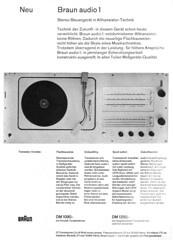 Braun 1963 Audio 1 (teddy_qui_dit) Tags: vintage advertising 1 60s stereo 70s braun dieterrams seventies audio publicit hifi sixties usermanual