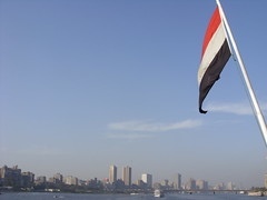 Cairo,Egypt (Spalaywitheepi) Tags: blue skyline river flag egypt nile cairo