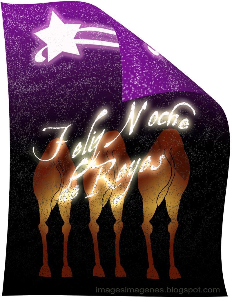 postal felicitacion reyes magos