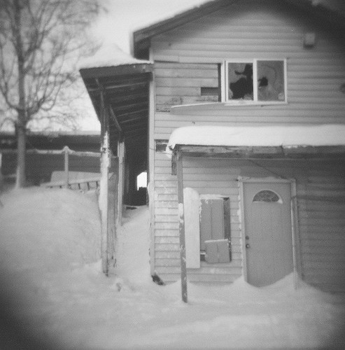 abandoned house w/ Holga