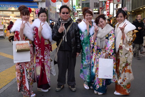 Me with Kimono girls