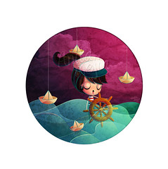 Oh Sailor (Anita Mejia) Tags: ocean sea cute girl illustration boats marine waves sailing dream oh sailor timon chocolatita anitamejia