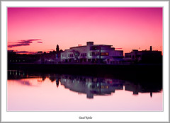 Springfield in the Pink (flatfoot471) Tags: winter sunrise scotland riverclyde glasgow finnieston springfieldquay