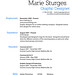 Resume of Marie Sturges