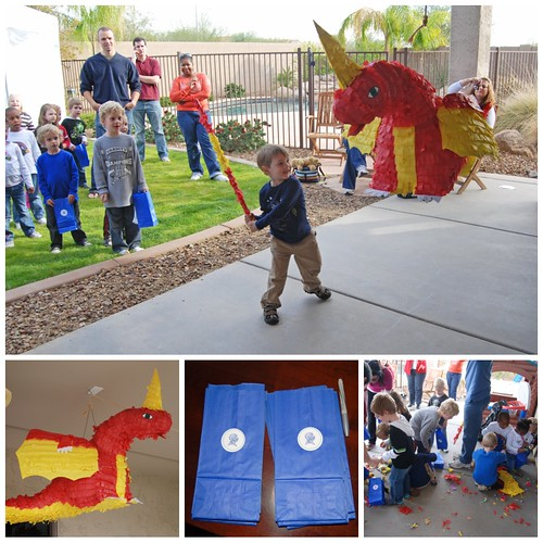 Knight Birthday Party Red Dragon Pinata