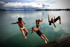 ...and they jump again (Sayid Budhi) Tags: portrait children kid jump humanitarian laketoba childrenportrait lompat balige northsumatra danautoba sumaterautara loncat anakdesa visitlaketoba2010