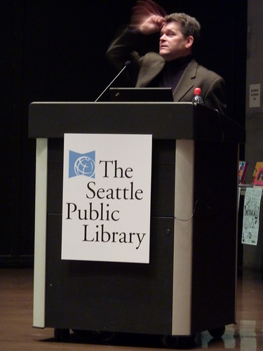 Peter Bagge at Comixtravaganza, Seattle Public Library, Jan. 30, 2010