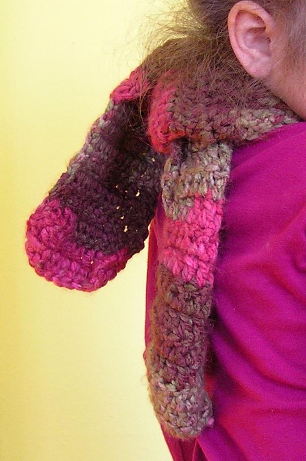 cozy crocheted scarf