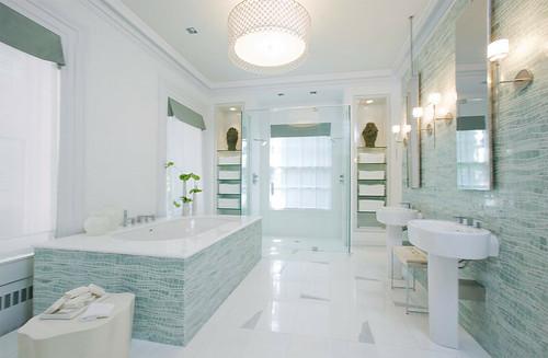 Stijl en Wonen: Blauw in de badkamer