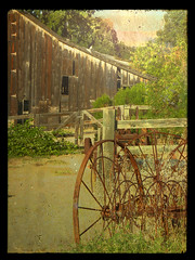 Barn painting (NaturallyEcoMemories) Tags: ca trees texture nature photomanipulation landscape hiking country barns sanjose elements historical aged photoshopelements susantuttle nikonp90 steffenjakob